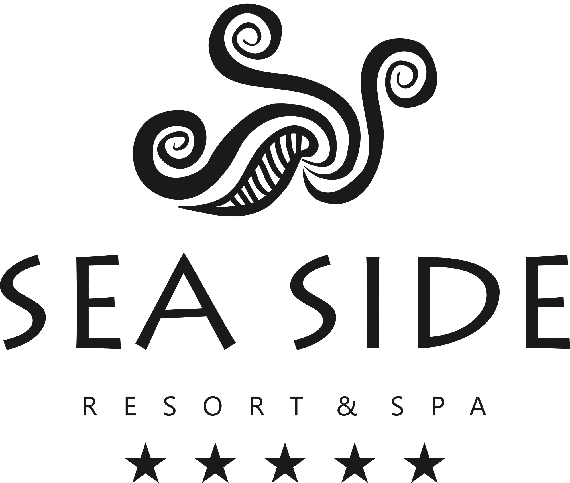 Sea Side Resort & Spa Logotype (Monochrome)